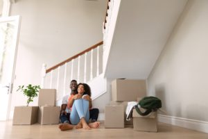 Couple moving in to a new home
